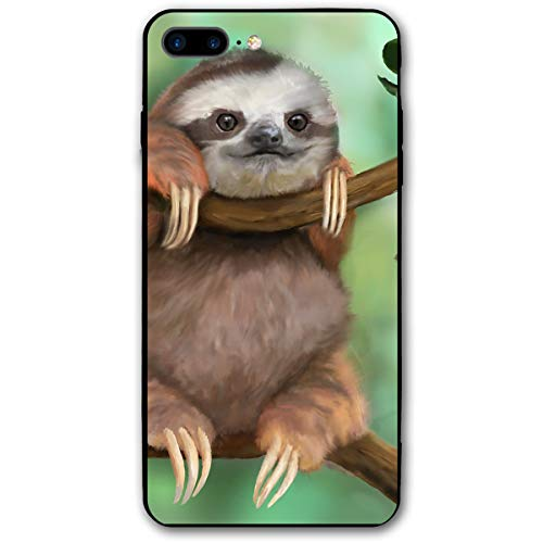 iPhone 7 Plus Case/iPhone 8 Plus Case Sloth Pattern Soft Rubber Cover Lightweight Slim Printed Protective Case