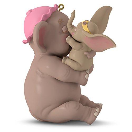 Hallmark Keepsake 2018 Disney Dumbo Baby Mine Year Dated Porcelain Christmas Ornament Baby Elephant Ornament