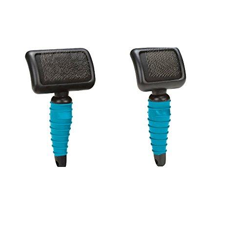 Master Grooming Ergonomic Soft Slicker Brush Set, Small & Medium