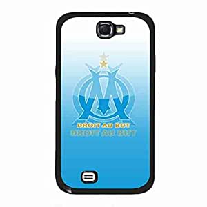 Olympique De Marseille Logo Phone Skin,Printing Image Design Phone Funda Cover For Samsung Galaxy Note 2
