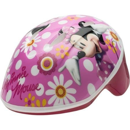 Disney Minnie Mouse Self-Adjust Toddler Helmet With High-Impact Reflectors For Visibility, For 3 Years And Up, Pink