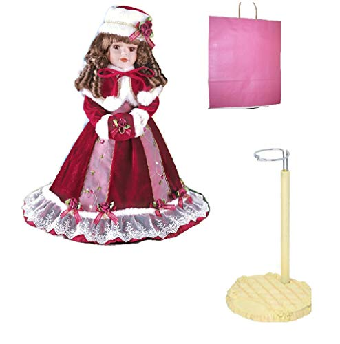 (Mackenzie Porcelain Holiday Doll, Stand and Gift Bag)