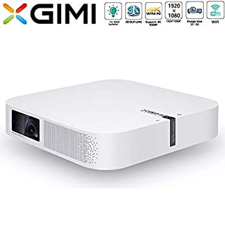 XGIMI Z6 Polar Mini Projector 1080P HD 700 ANSI Lumens 3D Projector Home Theater with Harman Kardon Speaker Android System Support 4K Lamp Life up to 50,000 Hours