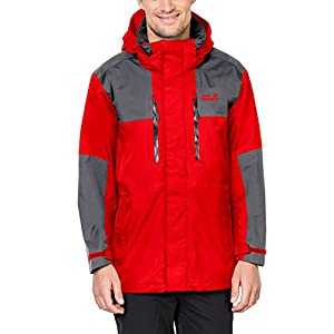 Jack Wolfskin Men's Jasper Flex Jackets, FIERY Red, Large