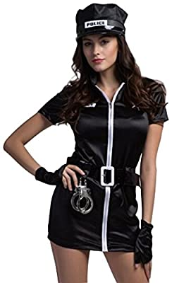 Sexy Police Uniform Halloween Costume Fancy Dress Outfit