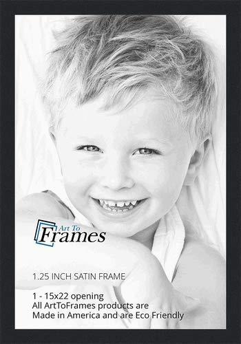 Amazoncom Arttoframes 15x22 Inch Satin Black Picture Frame