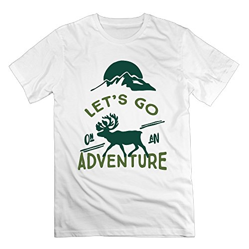 FONY Men's Let's Go On an Adventure Short Personalized T Shirt