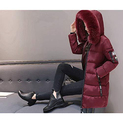 Grand Fourrure Épaisse Plus Vin De Coton 3xl La Mode Femmes Col Avec Hiver Capuche Lettre Dames Veste À Rouge Manteau M Taille Chaud Slim 7wwAxq6Z