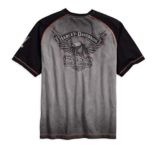 Harley-Davidson Men's Iron Block Raglan Short Sleeve Tee