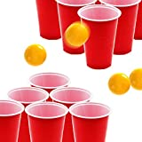 DR.DUDU Beer Pong Cups and Balls Set, Giant Beer