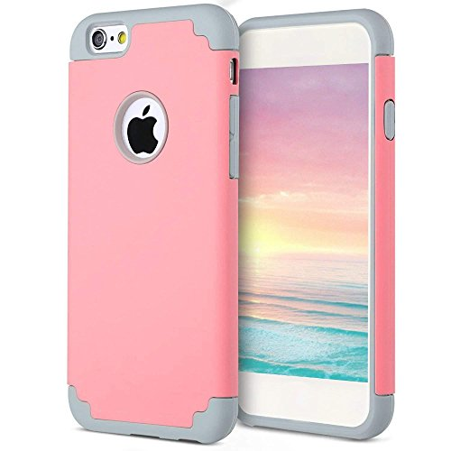 Price comparison product image iPhone 6s/6 Plus Thin Case, HLCT Slim Hybrid Dual-Layer Case for iPhone 6s/6 Plus (Pink)