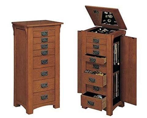 Powell Mission Oak Jewelry Armoire - Mission Style Corner