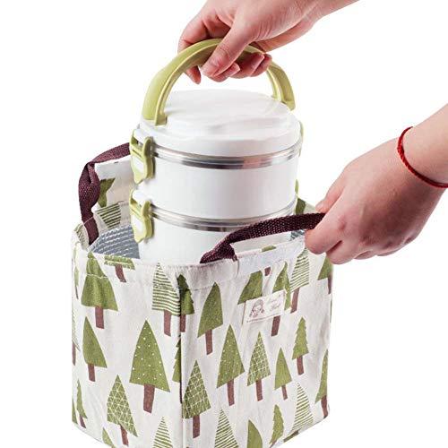 1 Para Tote Viajes Bag School Weimay Lunch Y Picnic Canvas XqUwIWzg