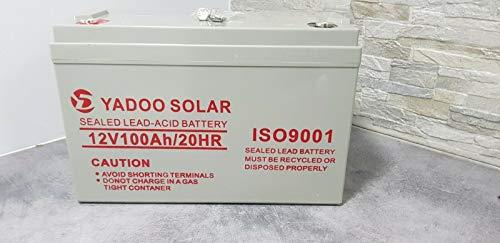 Batería de 12 V, 100 Ah, para kit fotovoltaico, acumulador, caravana, barco, casa: Amazon.es: Industria, empresas y ciencia