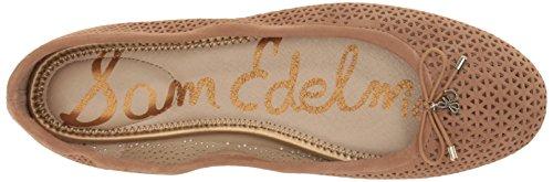 Felicia Sam Caramel Suede Flat 2 Women's Ballet Edelman Golden gqpq6PEx