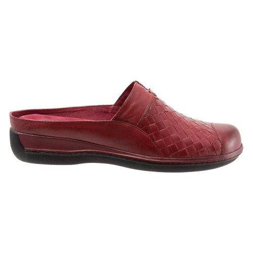 Softwalk Women's San Marcos Woven Mule Dark Red Burnished Veg Kid Leather clearance low shipping fee limited edition cheap online sale largest supplier choice cheap price j5PDsK7kL
