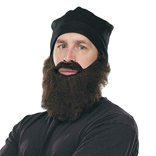 (Fun World Duck Hunter Disguise, Knit Cap and, Brown Beard, One Size)