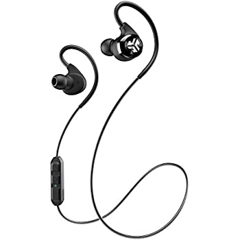 JLab Audio Epic Bluetooth 4.0 Wireless Sports Earbuds with 10 Hour Battery and IPX4 Waterproof Rating - Black
