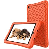 Amazon Fire 7 Tablet Case (7th Generation, 2017 Release Only) - Slim Silicone Light Weight Cover, Anti Slip Shockproof Kids Friendly Protective Case for Kindle Fire 7 Tablet, Orange