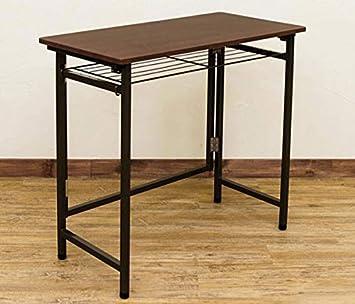InnoFur Aplos Folding Desk with Shelf (Black)