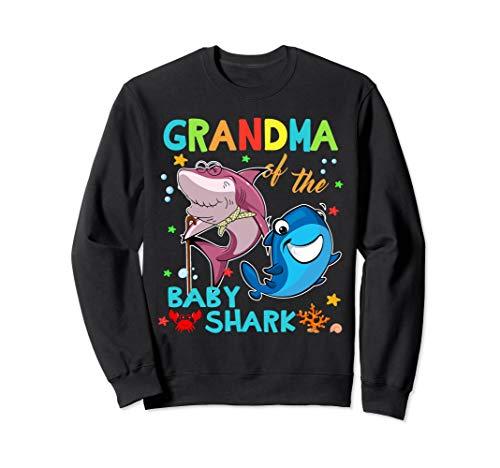 Grandma Of The Baby Shark Birthday Grandma Shark Sweatshirt