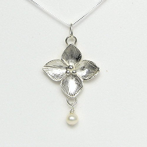 Celtic Qua trefoil Flower Necklace - Story Card: Symbol of Good Luck - Handcrafted in USA Sterling Silver 18