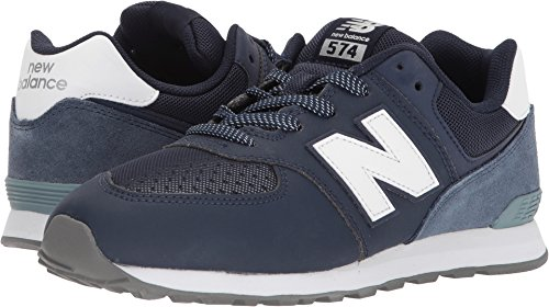 factory authentic 542af 93bbd New Balance Kids' 574 Serpent Luxe Sneakers,Blue/Grey,4 Medium US
