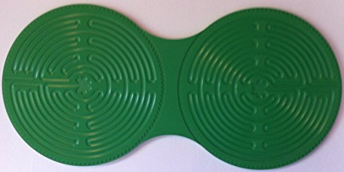 Chartres Double Finger Labyrinth in Green Plastic