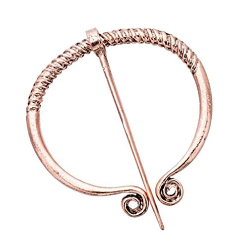 Bonarty Ethinc Style Viking Norse Penannular Brooch Pin Breastpin for Women Buckle Clasp Clothes Fasteners Cloak Pin - Antique Copper from Bonarty