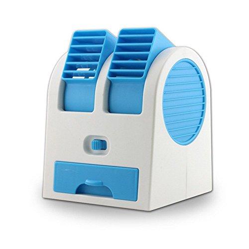NERLMIAY computadora portátil doble puertos Mini ventilador sin aspas aire acondicionado refrigerador de aire perfumado con...
