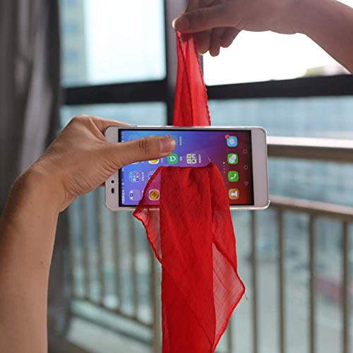WSNMING 2 Set Amazing Magic Tricks Performance Props Accessories Funny Silk Through Phone / Scarf Penetrate Phone Close Up Magic Show for Professional Magician Gimmick