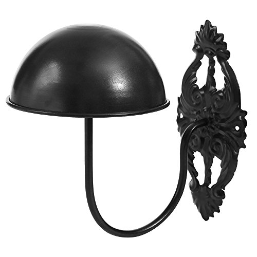 MyGift Decorative Vintage Style Black Metal Wall Mounted Entryway Hat/Cap/Wig Hanger Display Rack