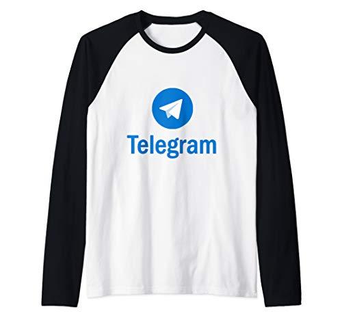 Telegram Raglan Baseball Tee