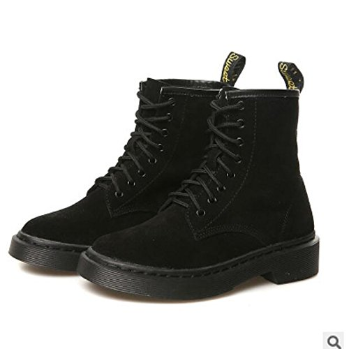 botas Casual Mujer Fuchsia Otoño Zapatos de de PU Chunky Invierno Fucsia HSXZ de botines tacón Round Toe Negro Confort botines aEp0H