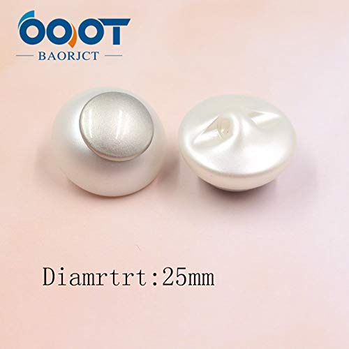 Pearl Mink Fur Button (Maslin OOOT BAORJCT A-19115-462,5pcs/Lot,25mm Acrylic Plus Metal Pearl Buttons,Mink Fur Coats Cardigan Sweater Buckle. - (Color: A-19115-464))