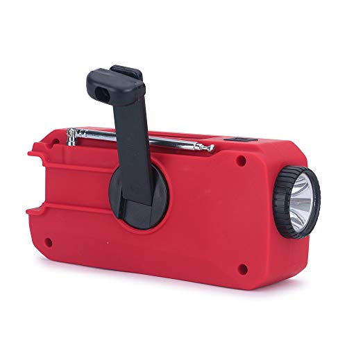 iRonsnow IS-366 Solar Emergency NOAA Weather Radio Hand Crank Windup WB/AM/FM Radios with Earphone Jack & Charge Indicator, 2000mAh Power Bank Phone Charger, Ultra Bright Flashlight for Camping (Red) by iRonsnow (Image #8)