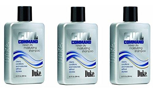 DUKE CURL COMMAND NEVER DRY MOISTURIZING SHAMPOO 8oz