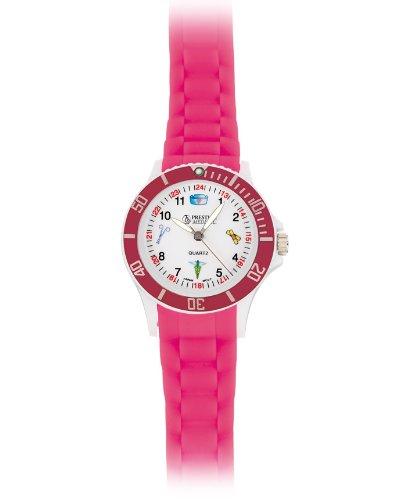 Prestige Medical Pink Nurse Symbols Scrub Watch