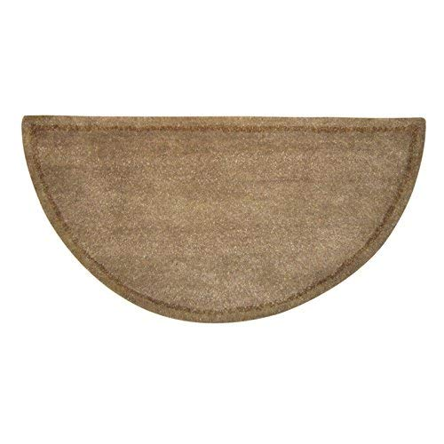 Beige with Black Hand Tufted 100 Wool Rug