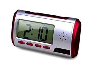 New Version Motion Detection Clock Camera with Remote and 4GB card- Records Color Video and sound