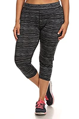 Womens Plus Size Capri Leggings Active