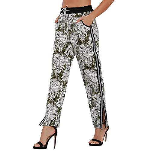 De Floral Salón Para 2 Estampado Pierna Con Ancha Cordones Pantalones  Elástico Mujer Green dFxRnd ad12dda5beb3