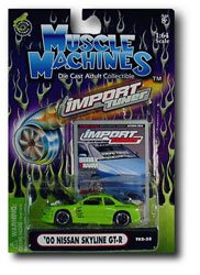 - Muscle Machines Import Tuner 00 Nissan SKyline GT-R (Lime Green)