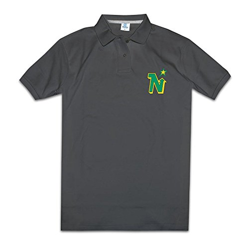 Men's Hockey Minnesota North Stars Logo Fashion Polo T Shirt