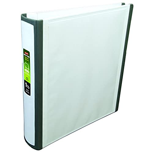 on sale 1 1 2 inch staples better view binders with d rings white