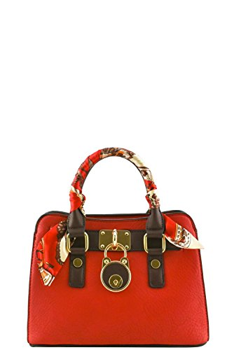 womens-designer-stylish-mini-padlock-top-handle-bag-with-scarf-va2026-red