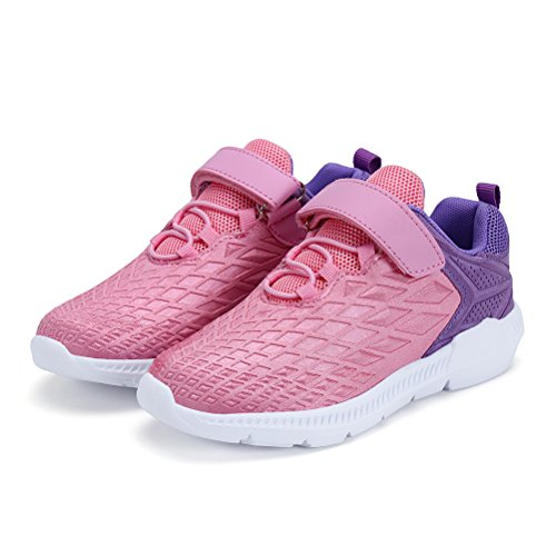 AFFINEST Boys Girls Lightweight Sneakers Athletic Easy Walk Casual Sport Running Shoes for Kids(Pink,26) by AFFINEST (Image #7)
