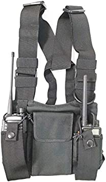 radtel Front Pack Pouch Holster Vest Rig Chest Bag Carry Case for Baofeng Two Way Radio UV-5R BF-F8HP UV-82 TYT Motorola Midland: Amazon.es: Jardín