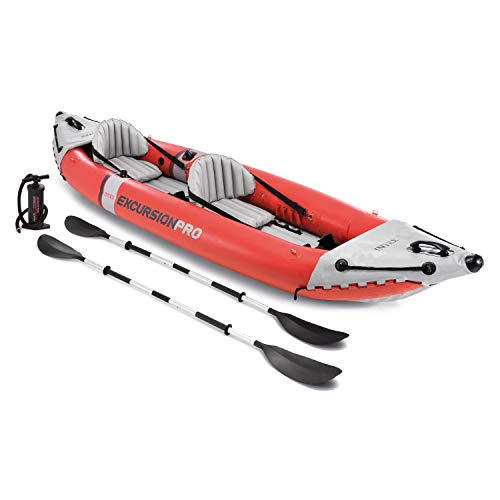 Intex Excursion Pro Kayak, Professional Series Inflatable Fishing Kayak (Best Pump For Inflatable Kayak)