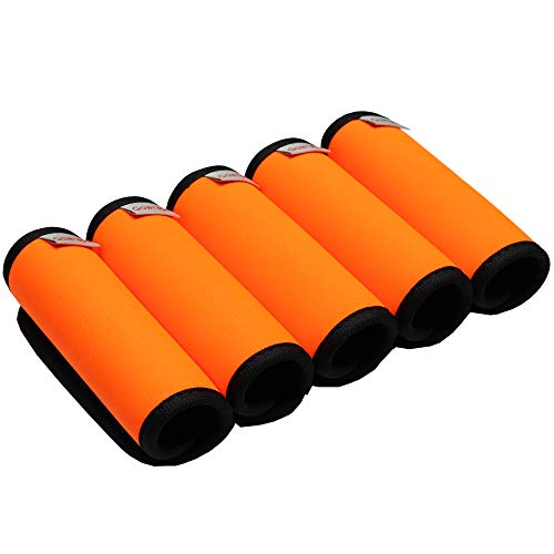 Gowraps Luggage Handle Wraps 5pcs Pack Fluorescent Orange Luggage Tags|Identifiers For Traveling